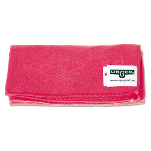 Unger SmartColor MicroWipes 4000  Heavy-Duty  16 x 15  Red  10 Case (UNG MF40R)