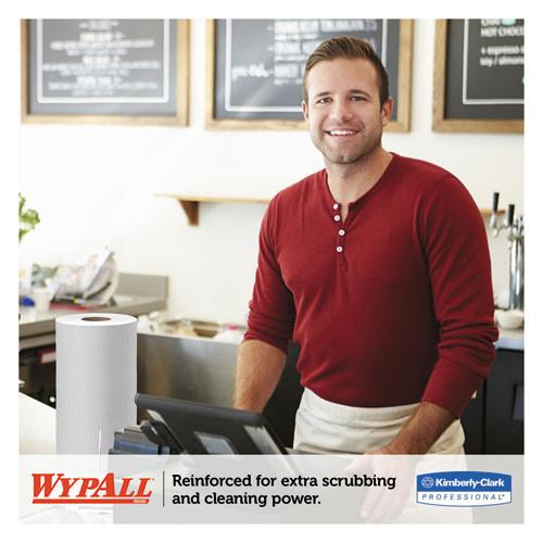 WypAll X60 Cloths  Small Roll  19 3 5 x 13 2 5  White  130 RL  6 RL CT (KCC 35421)