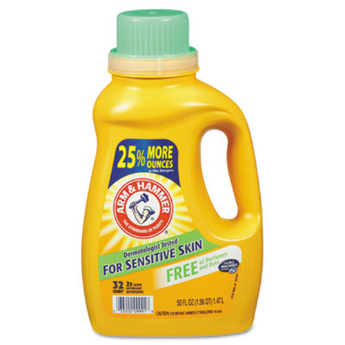 Arm & Hammer HE Compatible Liquid Detergent  Unscented  50oz Bottle  8 Carton (CDC 33200-09991)