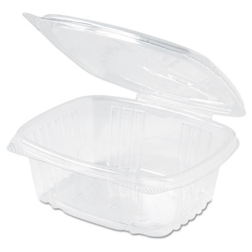 Genpak Clear Hinged Deli Container, Plastic, 12 oz, 5-3/8 x 4-1/2 x 2-1/2, 200/Carton (GNP AD12)
