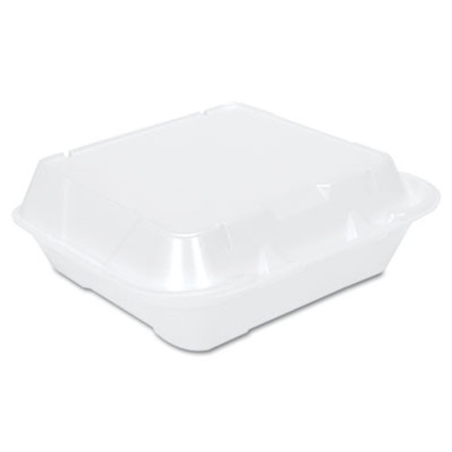 Genpak Snap-It Vented Foam Hinged Container  White  8-1 4 x 8 x 3  100 Bag  2 Bags CT (GNP SN240V)