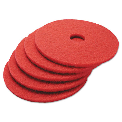 Boardwalk Buffing Floor Pads  16  Diameter  Red  5 Carton (PAD 4016 RED)