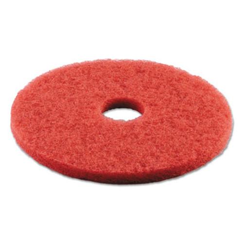 Boardwalk Buffing Floor Pads  16  Diameter  Red  5 Carton (PAD 4016 RED)