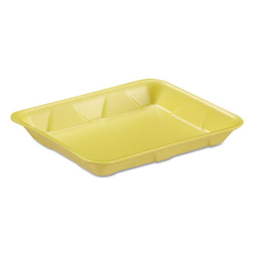 Genpak Supermarket Tray, Foam, Yellow, 9-1/4x7-1/4x1-1/8, 125/Bag (GNP 4DYL)