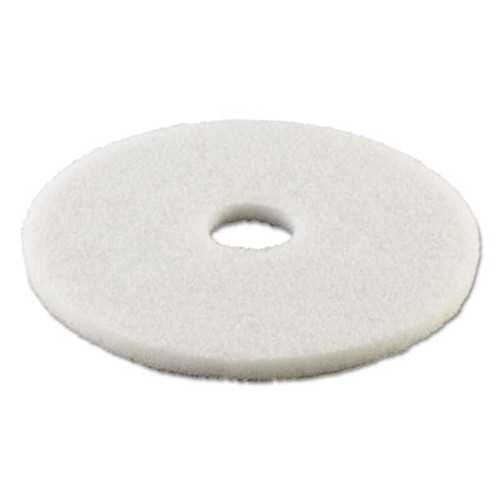 Boardwalk Standard 15-Inch Diameter Polishing Floor Pads, White (PAD 4015 WHI)
