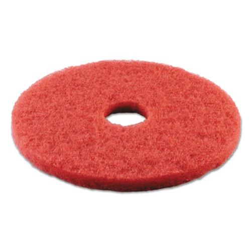 Boardwalk Buffing Floor Pads  14  Diameter  Red  5 Carton (PAD 4014 RED)