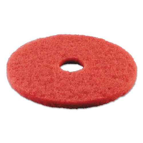 Boardwalk Buffing Floor Pads  14  Diameter  Red  5 Carton (PAD 4014 RED)