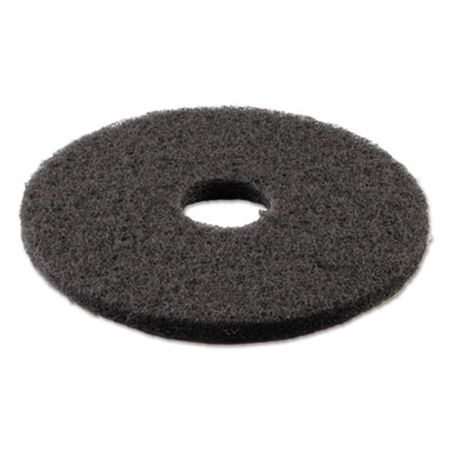 Boardwalk Standard 14-Inch Diameter Stripping Floor Pads, Black (PAD 4014 BLA)