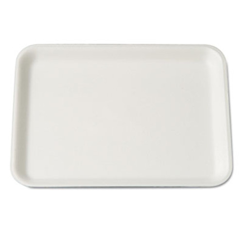 Genpak Supermarket Tray, Foam, White, 9-1/4x7-1/4x1/2, 125/Bag (GNP 4SWH)