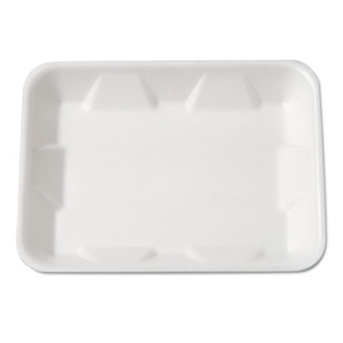 Genpak Supermarket Tray, Foam, White, 9-1/4 x 7-1/4 x 4/5, 125/Bag (GNP 4DWH)