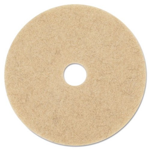 3M Ultra High-Speed Natural Blend Floor Burnishing Pads 3500  27  Dia   Tan  5 CT (MCO 20317)