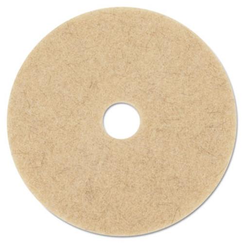 3M Ultra High-Speed Natural Blend Floor Burnishing Pads 3500  27  Dia   Tan  5 CT (MCO 20317)