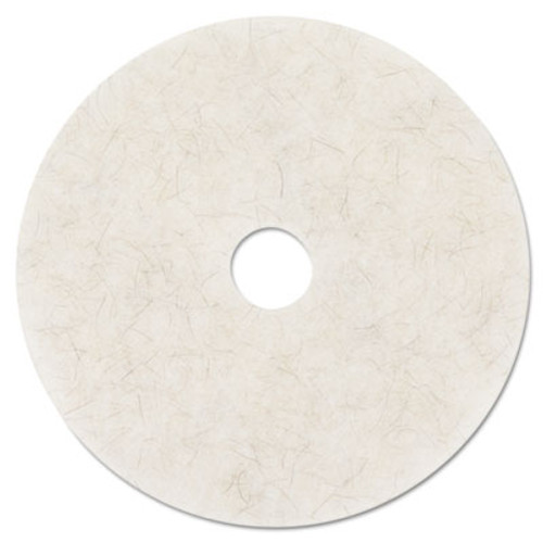3M Ultra High-Speed Natural Blend Floor Burnishing Pads 3300  27  Dia   White  5 CT (MCO 20326)