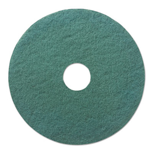 Boardwalk Standard 18-Inch Diameter Heavy-Duty Scrubbing Floor Pads, Green, 5/Carton (PAD 4018 GRE)