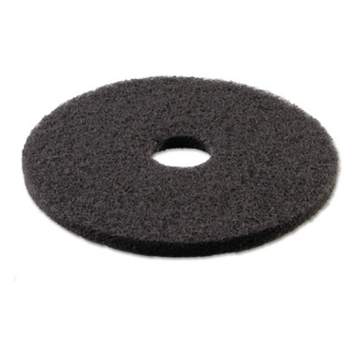 Boardwalk Standard 18-Inch Diameter Stripping Floor Pads, Black (PAD 4018 BLA)