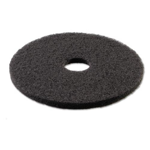 Boardwalk Stripping Floor Pads  18  Diameter  Black  5 Carton (PAD 4018 BLA)
