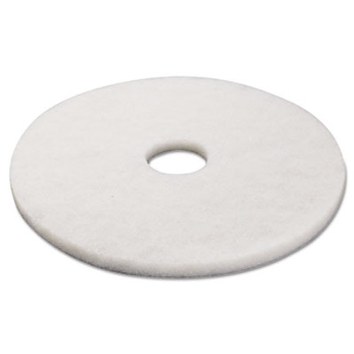 Boardwalk Polishing Floor Pads  17  Diameter  White  5 Carton (PAD 4017 WHI)