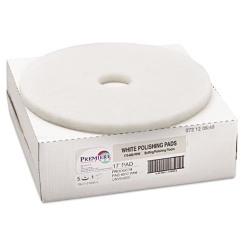 Boardwalk Standard 17-Inch Diameter Polishing Floor Pads, White (PAD 4017 WHI)