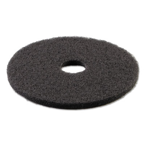 Boardwalk Standard 21-Inch Diameter Stripping Floor Pads, Black (PAD 4021 BLA)