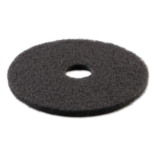 Boardwalk Stripping Floor Pads  21  Diameter  Black  5 Carton (PAD 4021 BLA)