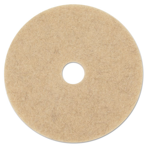 Boardwalk Natural Hog Hair Burnishing Floor Pads  21  Diameter  5 Carton (PAD 4021 NHE)