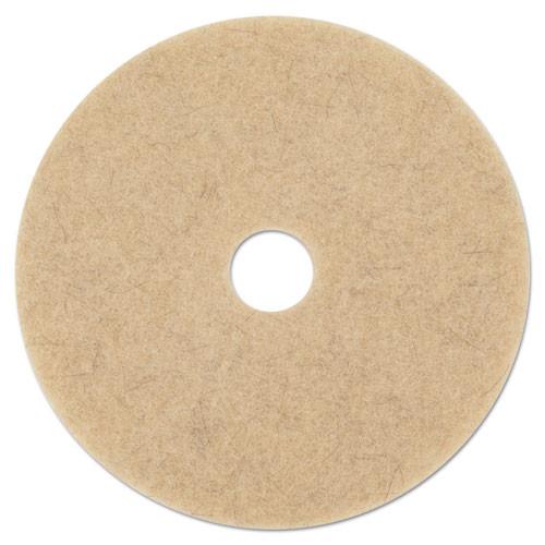 Boardwalk Natural Hog Hair Burnishing Floor Pads  21  Diameter  5 Carton (PAD 4021 NHE)