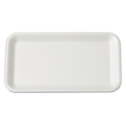 Genpak Supermarket Tray, Foam, White, 8-1/4x4-3/4, 125/Bag (GNP 17SWH)