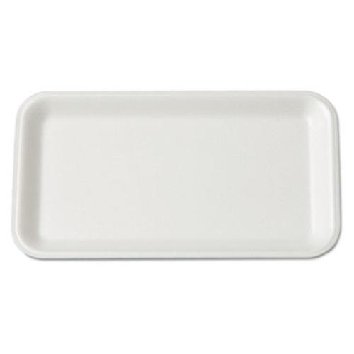 Genpak Supermarket Tray  Foam  White  8-1 4x4-3 4  125 Bag (GNP 17SWH)