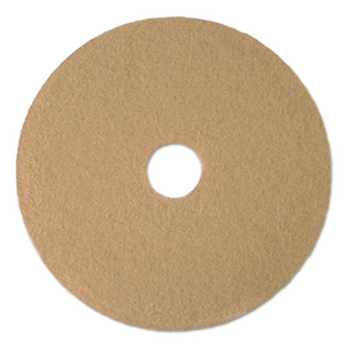 Boardwalk Tan Burnishing Floor Pads  21  Diameter  5 Carton (PAD 4021 ULT)