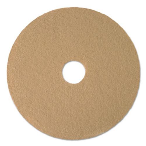 Boardwalk Tan Burnishing Floor Pads  21  Diameter  5 Carton (PAD 4021 ULT)