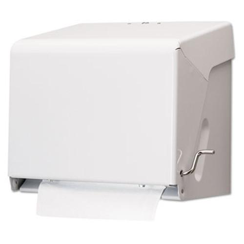 San Jamar Crank Roll Towel Dispenser  White  Steel  10 1 2 x 11 x 8 1 2 (SAN T800WH)