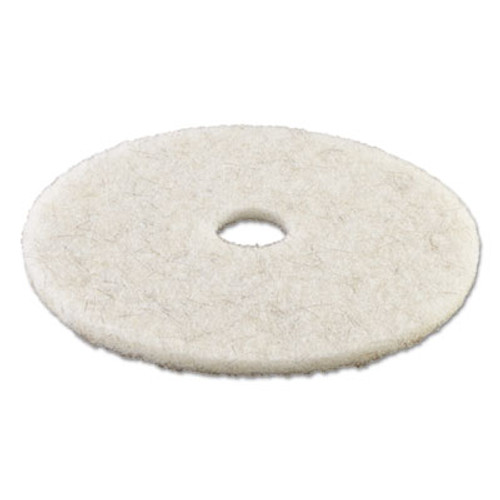 Boardwalk Natural White Burnishing Floor Pads  19  Diameter  5 Carton (PAD 4019 NAT)