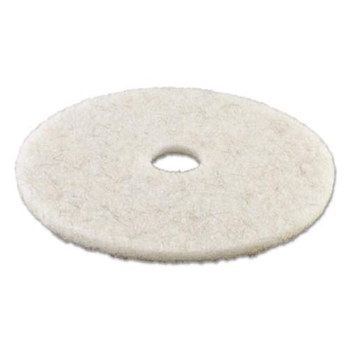 Boardwalk Natural White Burnishing Floor Pads  19  Diameter  5 Carton (PAD 4019 NAT)