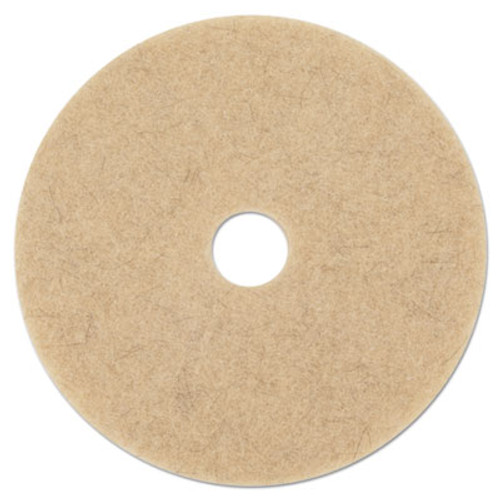 Boardwalk Natural Hog Hair Burnishing Floor Pads  17  Diameter  5 Carton (PAD 4017 NHE)