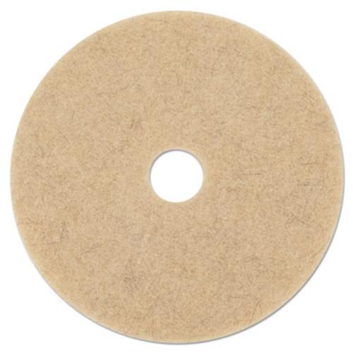 Boardwalk Natural Hog Hair Burnishing Floor Pads  17  Diameter  5 Carton (PAD 4017 NHE)