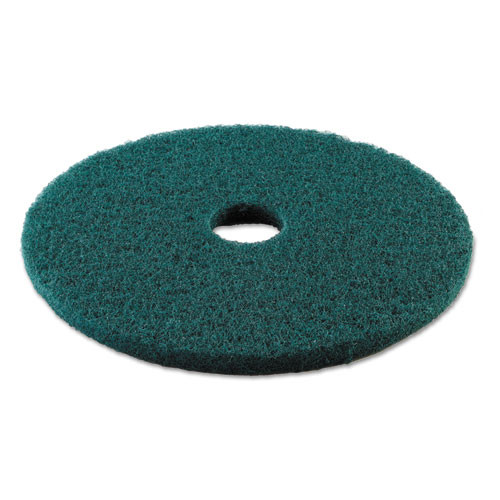 Boardwalk Heavy-Duty Scrubbing Floor Pads  19  Diameter  Green  5 Carton (PAD 4019 GRE)