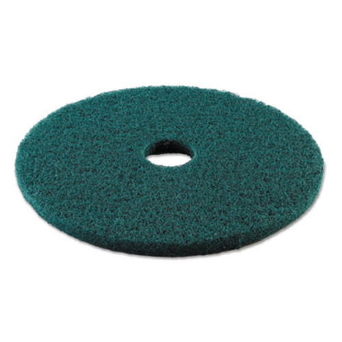 Boardwalk Standard 19-Inch Diameter Heavy-Duty Scrubbing Floor Pads, Green (PAD 4019 GRE)