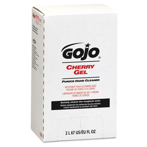 GOJO Cherry Gel Pumice Hand Cleaner, 2000 ml Refill (GOJ 7290-04)