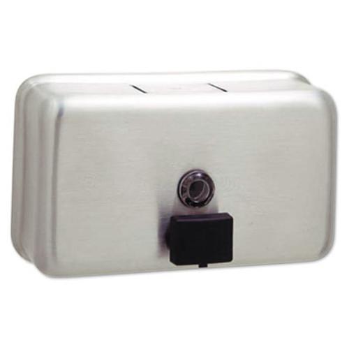 Bobrick ClassicSeries Surface-Mounted Liquid Soap Dispenser  40 oz  8 13  x 2 75  x 4 75   Stainless Steel (BOB 2112)