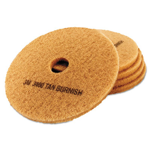 3M Ultra High-Speed Floor Burnishing Pads 3400, 19-Inch, Tan (MCO 05605)