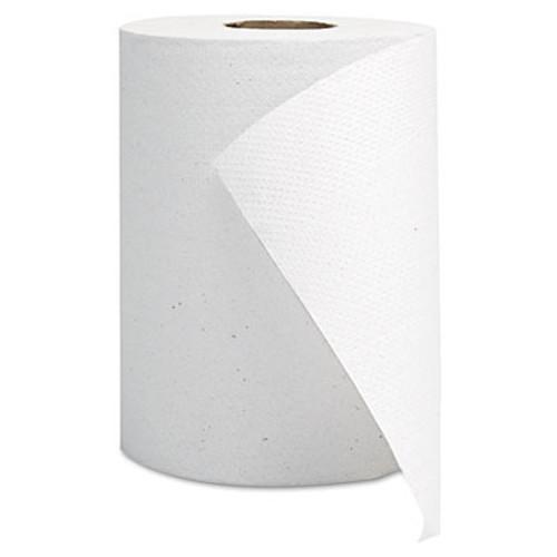 GEN Hardwound Roll Towels  White  8  x 350 ft  12 Rolls Carton (GEN 1800)