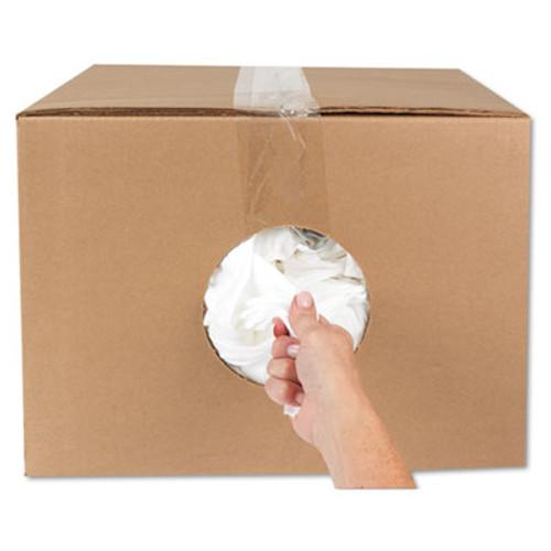 HOSPECO New Bleached White T-Shirt Rags  25 Pounds Bag (HOS 455-25)