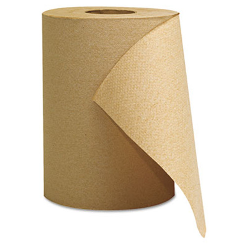 GEN Hardwound Roll Towels  Natural  8  x 350ft  12 Rolls Carton (GEN 1805)
