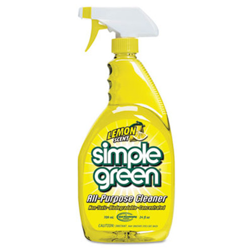 Simple Green Industrial Cleaner and Degreaser  Concentrated  Lemon  24 oz Bottle  12 Carton (SMP 14002)
