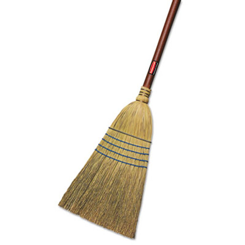Rubbermaid Commercial Warehouse Corn-Fill Broom  38-in Handle  Blue (RCP 6383)