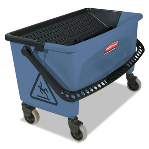 Rubbermaid Commercial Microfiber Finish Bucket  with Lid  3 gal  Blue (RCP Q930)