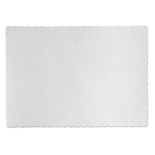 Hoffmaster Knurl Embossed Scalloped Edge Placemats  9 5 x 13 5  White  1 000 Carton (HFM PM32052)