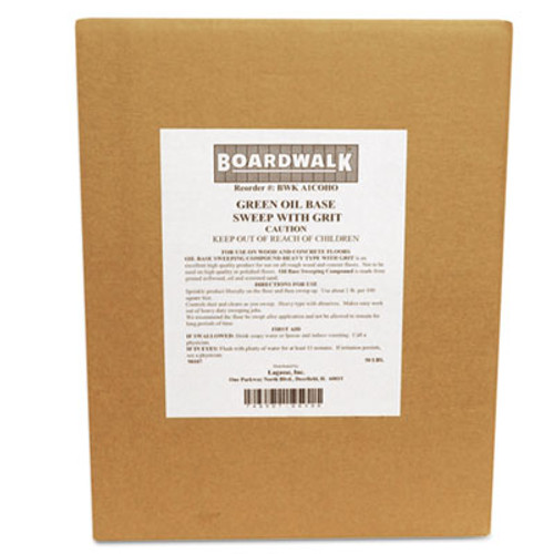 Boardwalk Oil-Based Sweeping Compound  Grit  Green  50lbs  Box (BWK A1COHO)