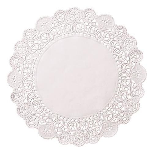 Hoffmaster Brooklace Lace Doilies  Round  6   White  2000 Carton (HFM LA906-2M)