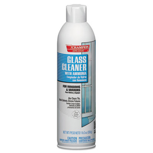 Chase Products Champion Sprayon Glass Cleaner with Ammonia  19oz  Aerosol  12 Carton (CHA 5151)